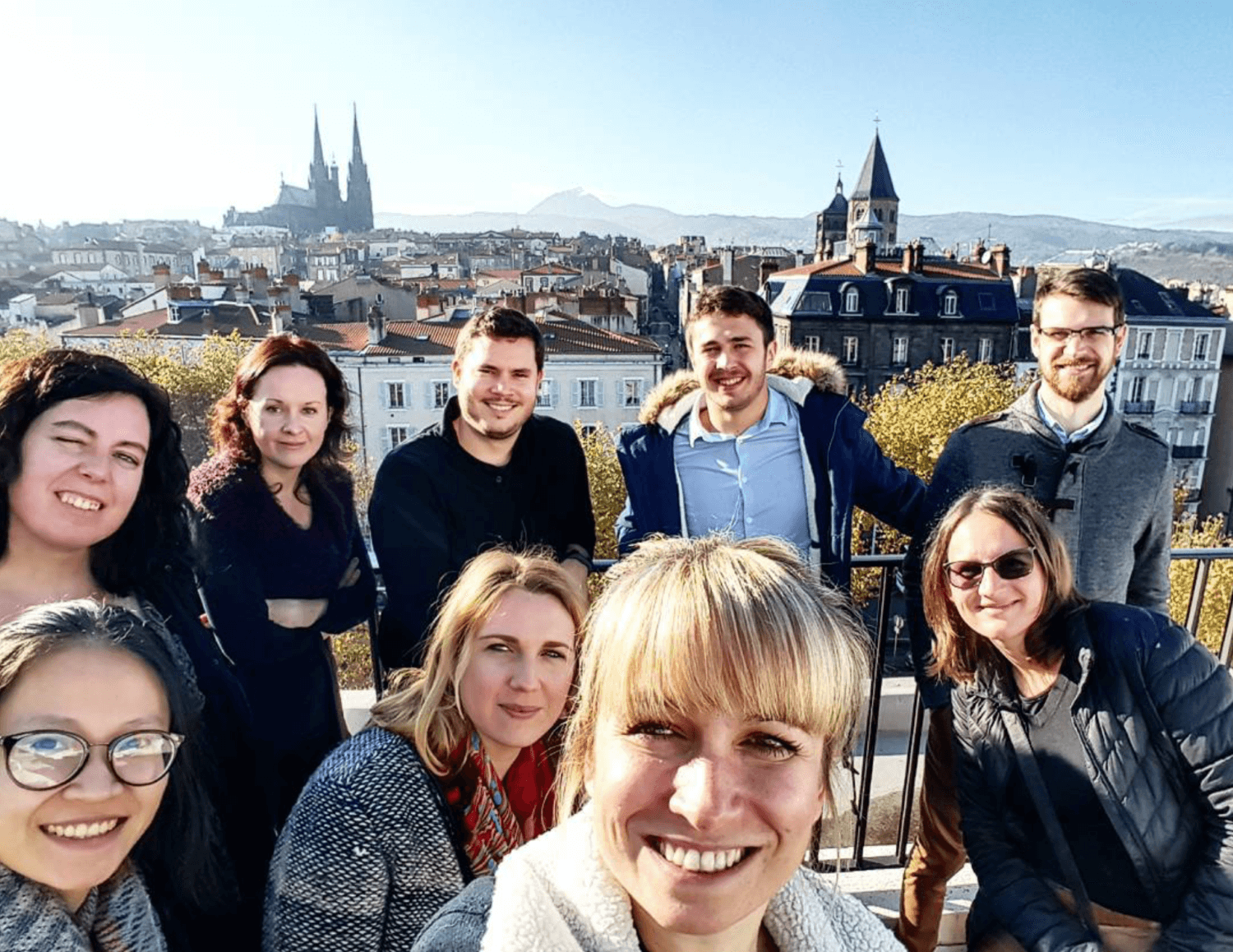 Domraider equipe balcon clermont ferrand cathedrale
