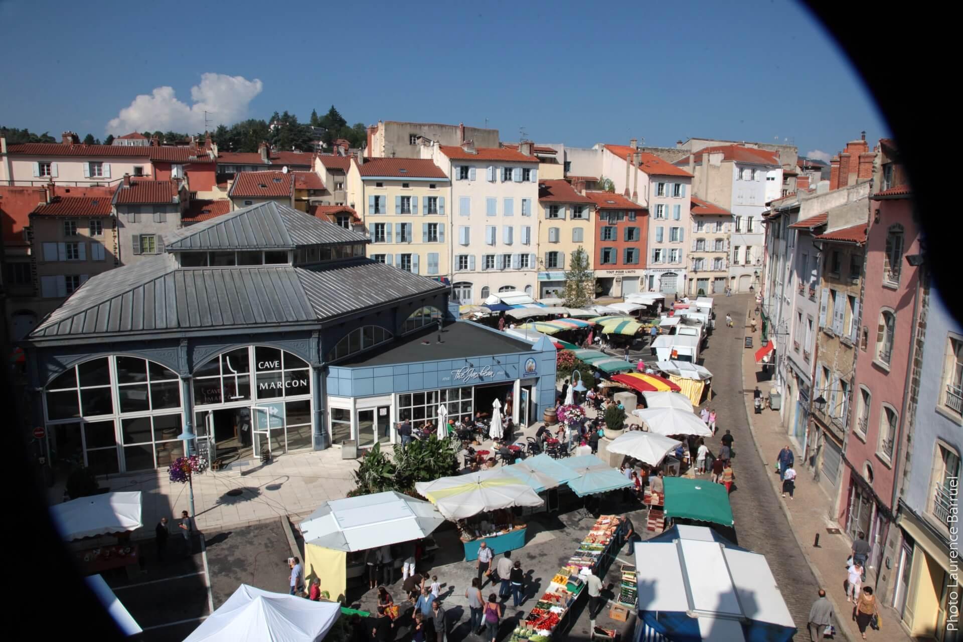 Puy-en-velay marché cave marcon